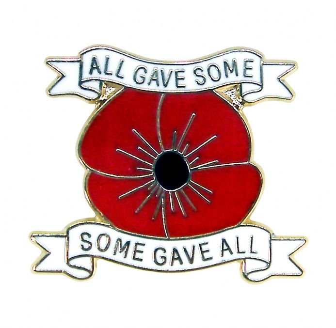 Poppy Lapel Badge - All Gave Some
